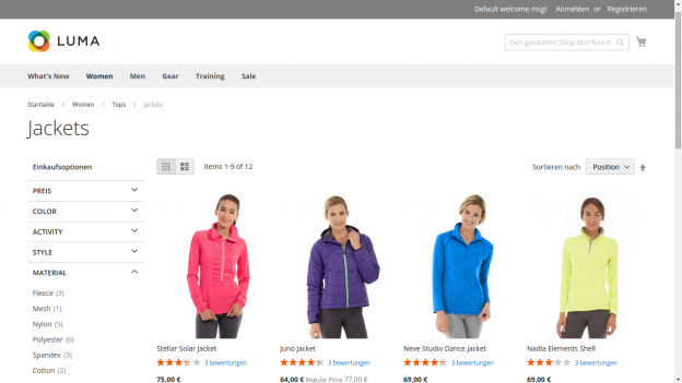 Magento 2 Frontend