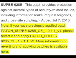 SUPEE-6285