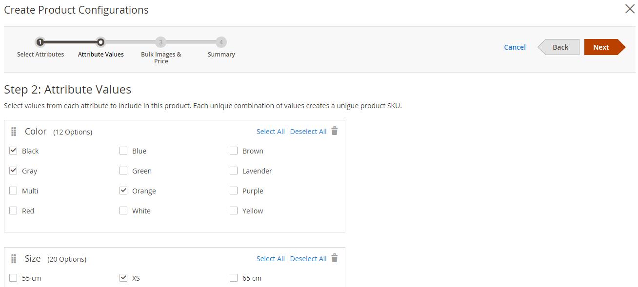 Magento 2 Produktkonfiguration 2