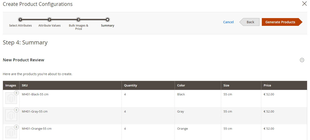 Magento 2 Produktkonfiguration 4