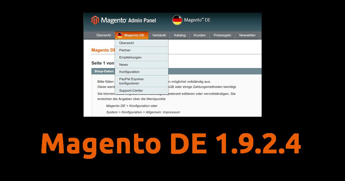 Magento DE 1.9.2.4