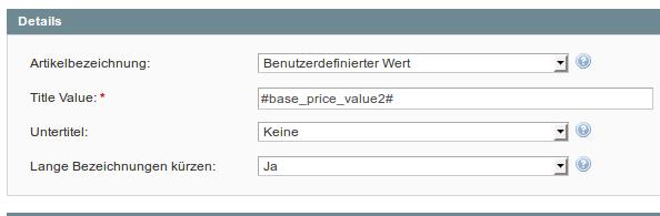 Konfiguration  für Grundpreise in M2E Pro