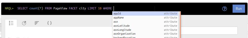 NRQL Autocomplete