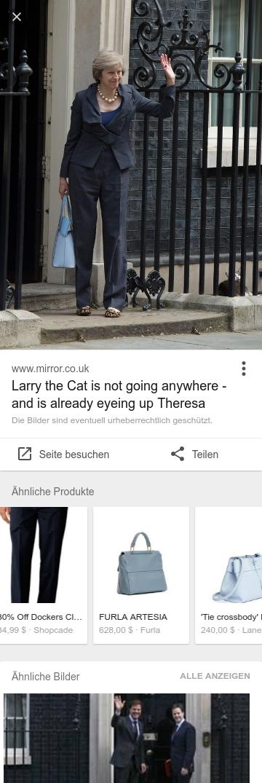 Google Bildersuche mit Funktion »Ähnliche Produkte«