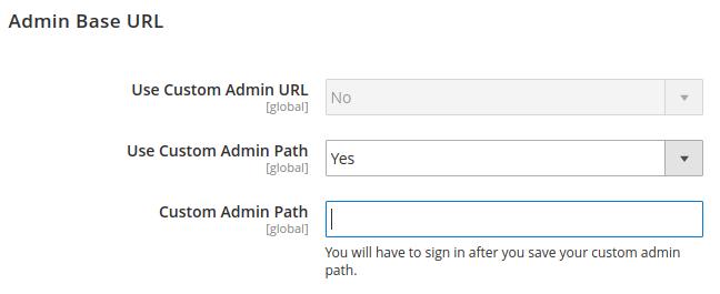 Magento Custom Admin Path