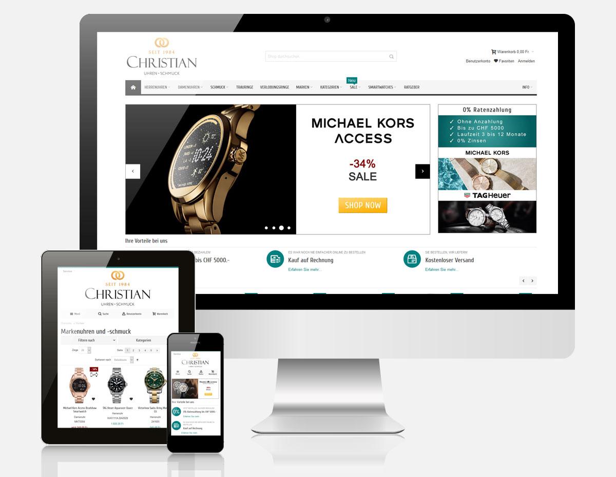 Onlineshop Christian Uhren Schmuck