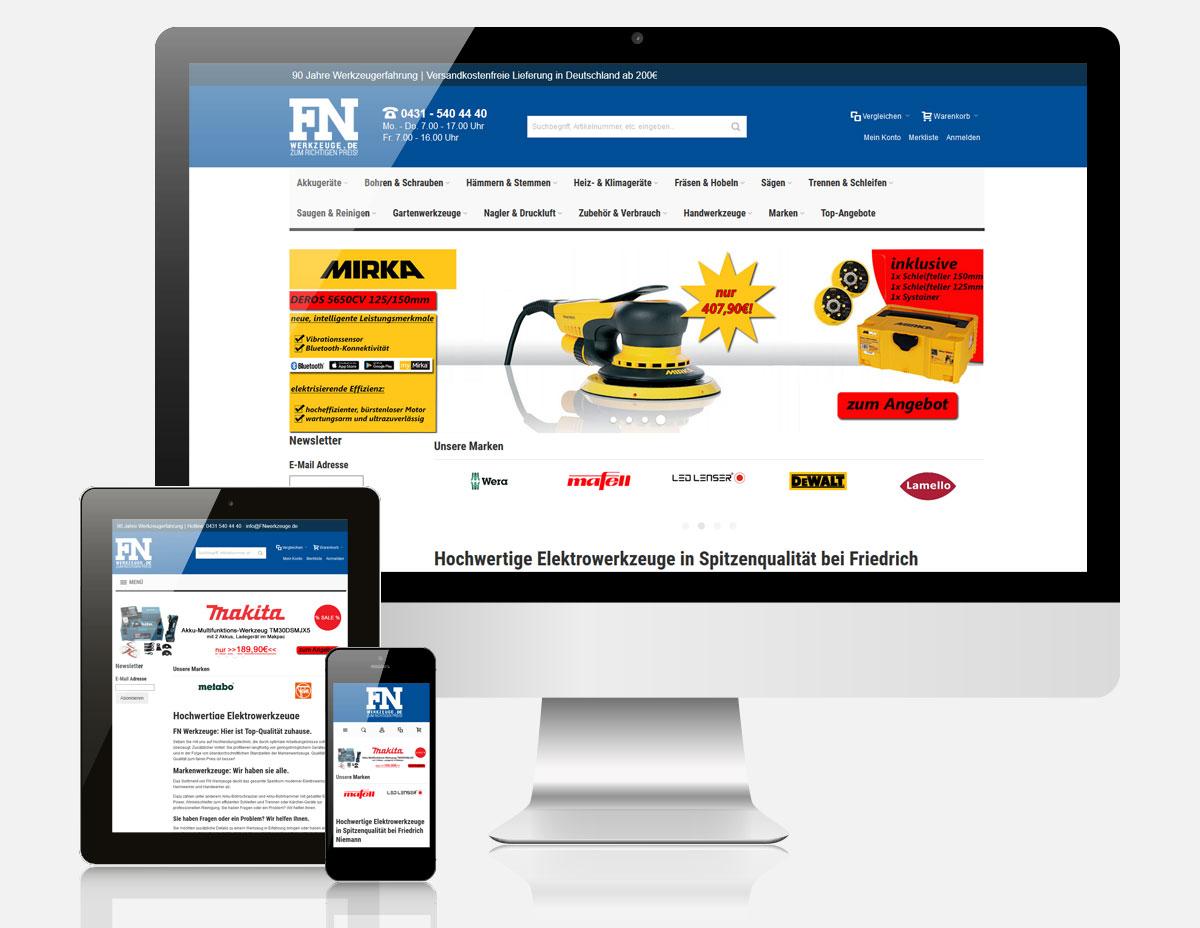 Magento Onlineshop FN Werkzeuge