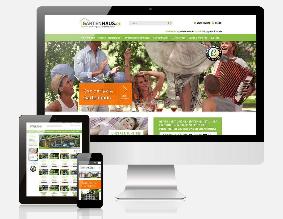 Magento Onlineshop gartenhaus.de