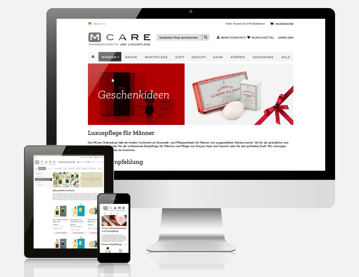 Magento Onlineshop M-Care