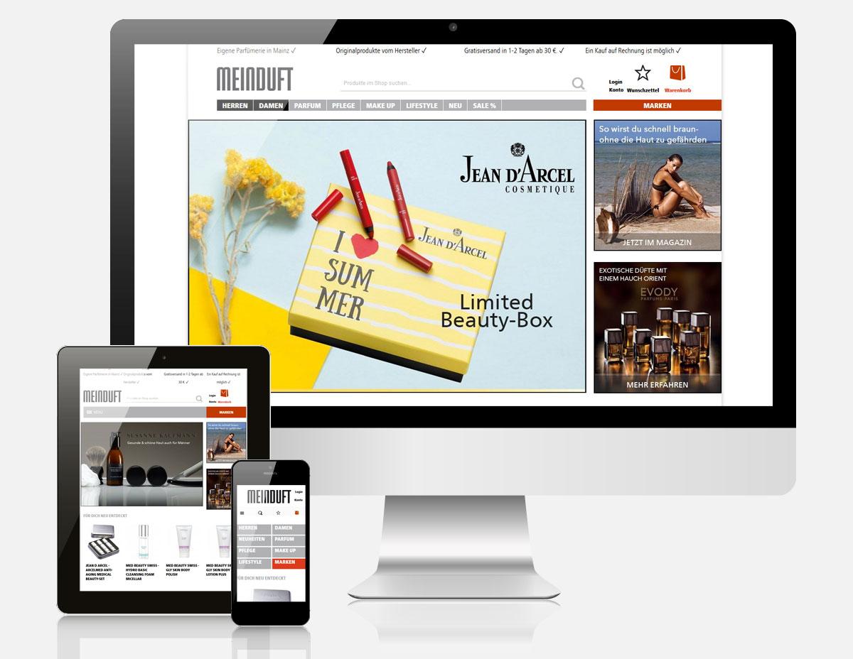 Magento Onlineshop mit Ultimo Theme für Meinduft