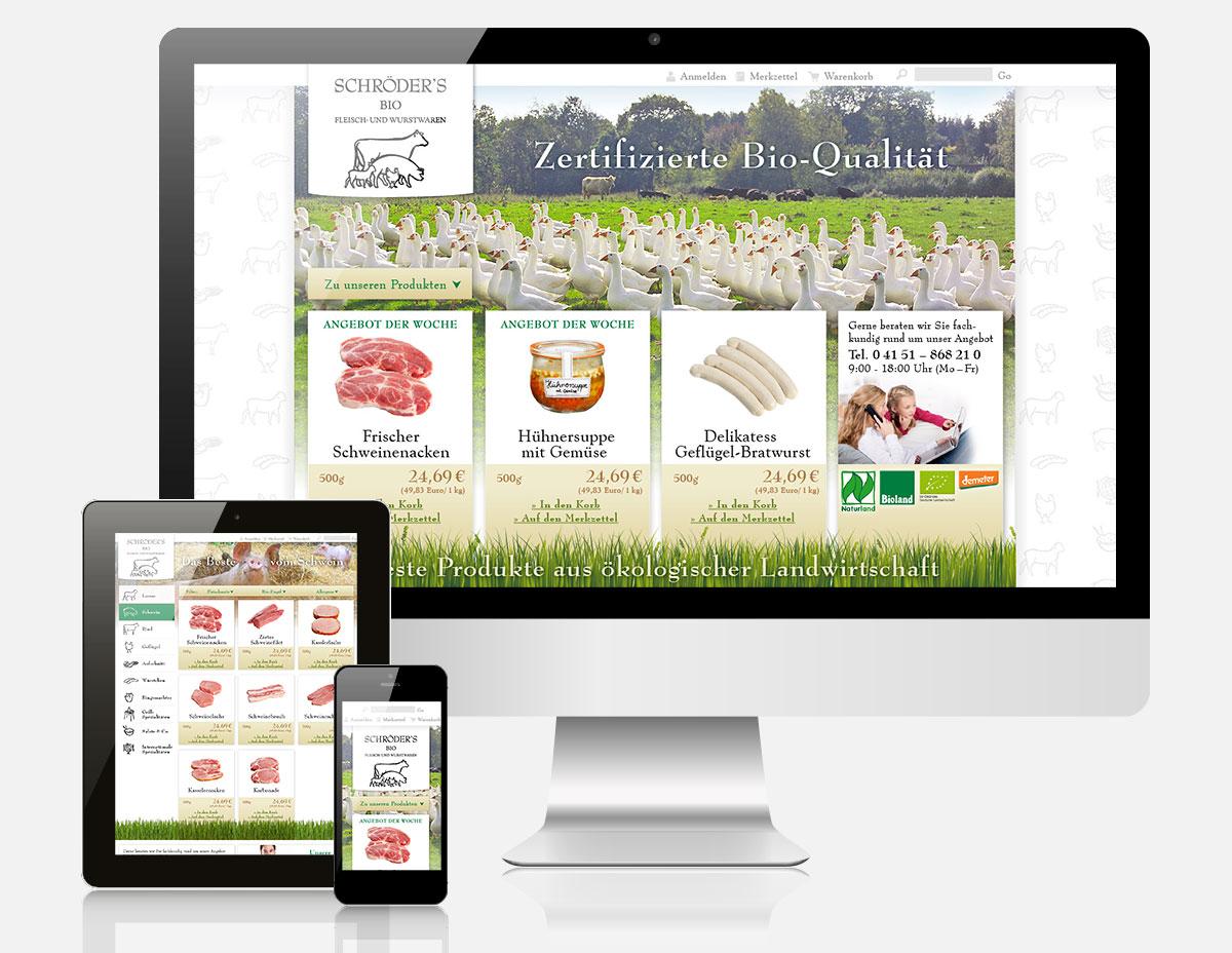 Shopware Onlineshop Bio Fleischer