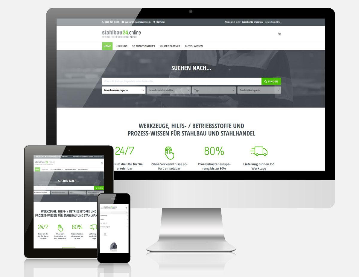 Magento Onlineshop STAHLBAU24