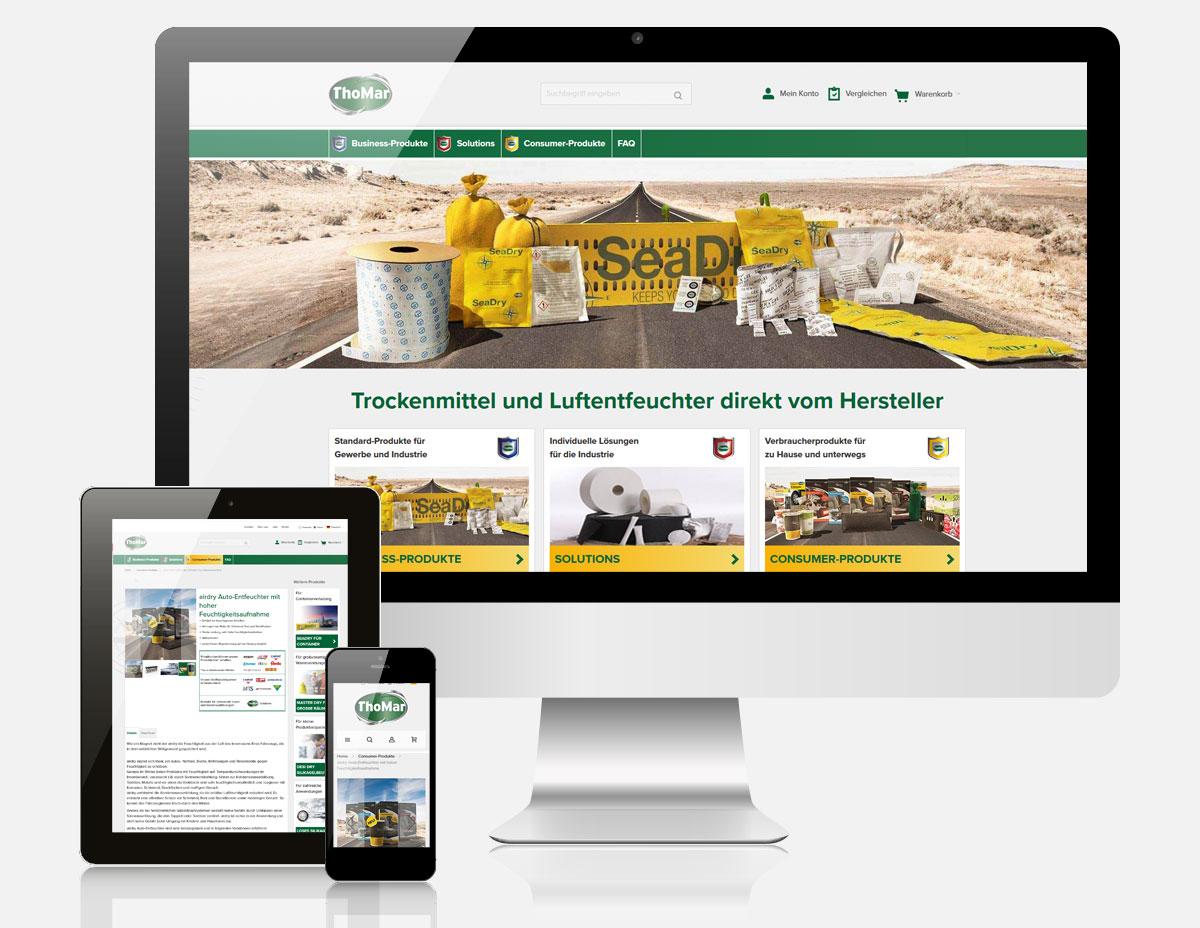 Magento Onlineshop mit Ultimo Theme für Thomar