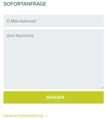 DSGVO konformes Kontaktformular
