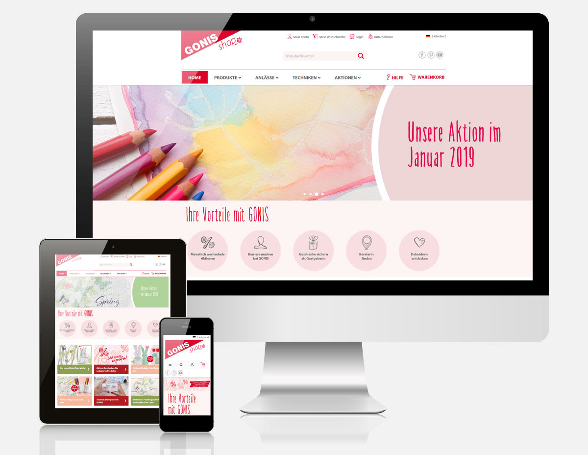 Magento 2 Onlineshop mit Ultimo Theme für GONIS