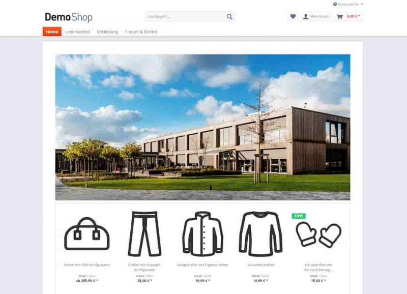 Shopware 5 Demoshop
