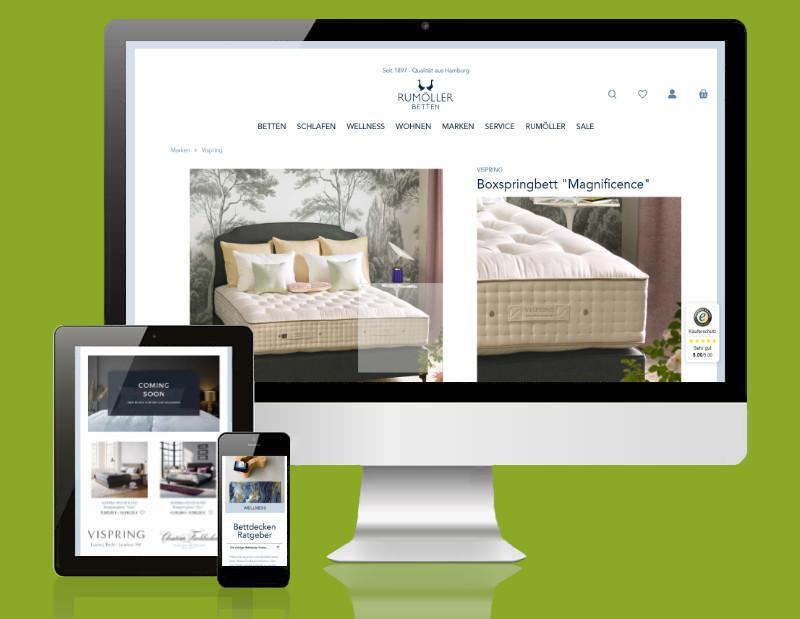 rumoeller.de als Desktop, Tablet und Mobile Version