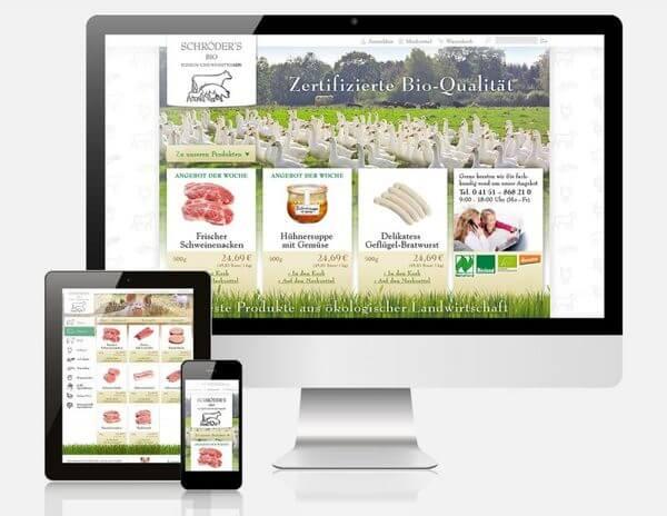 Shopware Shop von Schroeders Bio Fleischwaren