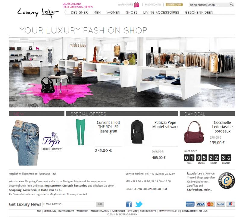 Preisverdächtiger Shop-Relaunch: luxuryloft.eu