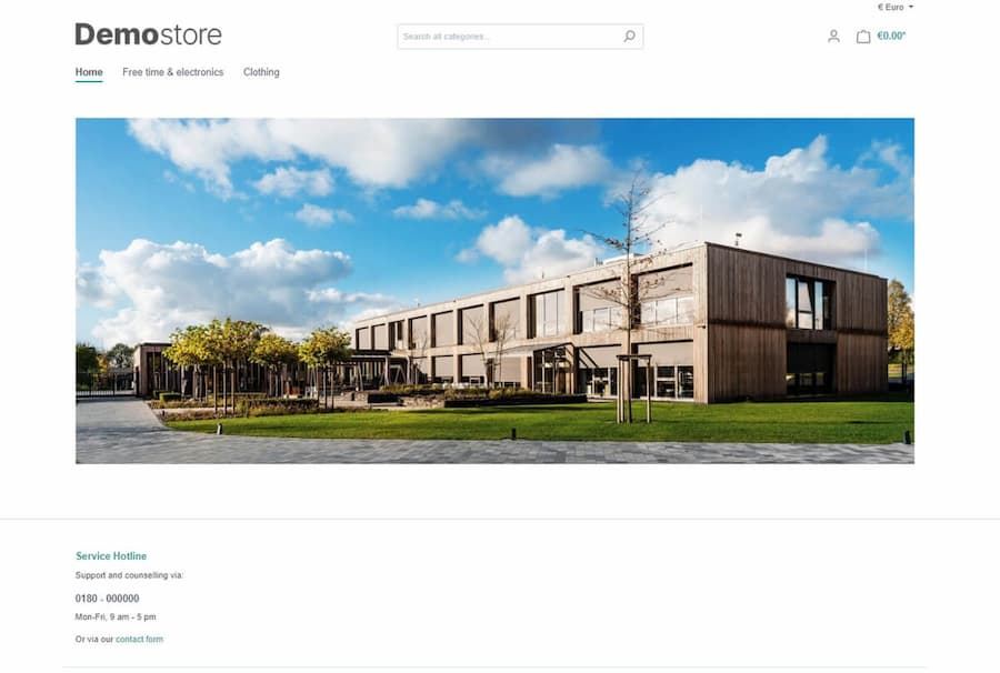Screenshot Shopware 6