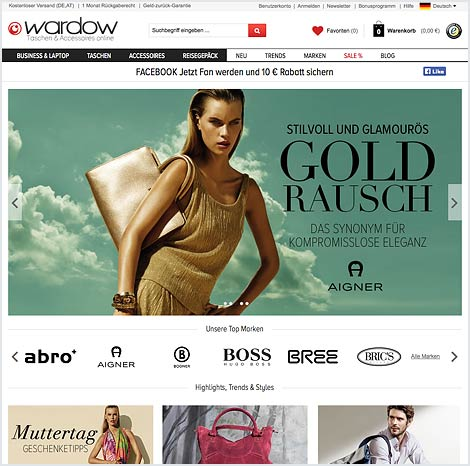 Magento Enterprise Onlineshop von Wardow
